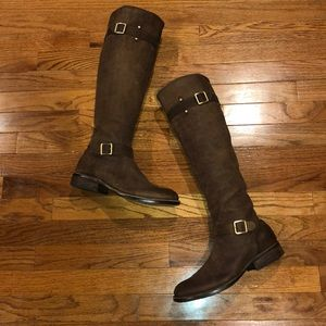 Vince Camuto Distressed Riding Boots